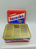 Bazooka Bubble Gum Empty Tin Canister Box Nice Rectangle 7 x 5 x 3