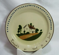 Torquay Watcombe Pottery England Devon Motto Ware Salad Plate ENOUGHS AS GOOD