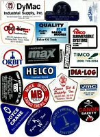 Collectible Hard Hat Oilfield Advertising Stickers Lot #41 20 Different Stickers