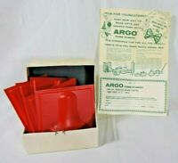 Vintage Argo Corn Starch Salt Dough Holiday Molds Set of 5 w/Box
