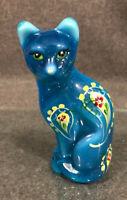 Fenton Glass Cat Translucent Blue Opal,   J Powell