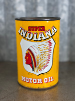 Super Indiana Oil Can Litre/Imperial Quart Indian Graphic Lead Seam