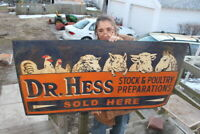 Large Vintage 1950's Dr. Hess Pig Cow Chicken Horse Farm Gas Oil 48