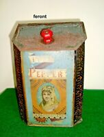 Vintage Turn of the Century Victorian spice /Pepper tin (item #2)