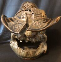 """Rare! Cleater Meaders One Of A Kind, Kiln Mishap """"Olympic Cowboy"""" Face Jug, 1995"""