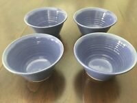 N.C. Art Pottery 1998 4 Cobalt Blue Cereal Soup Bowls Bobby Ray Marsh Serving