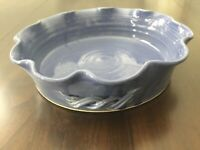 N.C. Art Pottery 1999 Blue Casserole Pie Plate Dish Serving Bowl Bobby Ray Marsh