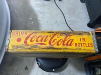 Coca-Cola *Yellow/Red* Wood/Metal Edged CRATE