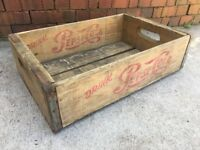 Vintage Wooden Soda Crate Pepsi Cola Wood Box