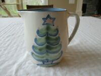 M A Hadley CHRISTMAS Christmas Tree 48 OZ Pitcher Excellent Condition!