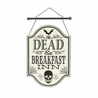 Gothic Dead & Breakfast Sign Halloween Decoration - Home Decor - 1 Piece