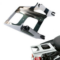 Chrome 2 Up Tour Pack Pak Rack Mounting Bracket for Harley 2009 13 Electra Glide