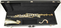 USED BUFFET PARIS RADIO MODEL BASS CLARINET, GRENADILLA WOOD BODY