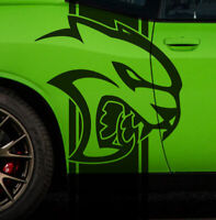 Dodge Challenger Hell Cat HellCat Stripes Vehicle Graphic Decal Side Charger Car