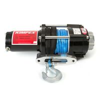 Kimpex Electric Winch 2500 lb Synthetic Cable Wire Rope 49' 12V w/Accessories