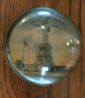 Antique Glass Paperweight Statue Of Liberty Souvenir