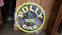 Polly Gas Sign - 24 Inch Embossed Reproduction Tin Sign - Made in USA
