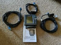 Lowrance X52 Fishfinder With Skimmer Transducer - Power cord - tested and works!