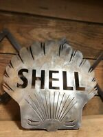 Steel Shell Gas Pump Sign Station Lamp Service Texaco Not Porcelain Antique Gulf