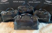 Aston Martin Vantage Luggage Set Bag Holdalls x4 - Black & Spectral Blue Leather