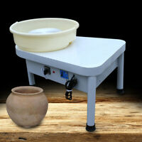 Heavy Table Top Pottery Wheel Ceramic Drawing Machine w/ Foot Pedal 110V 250W US