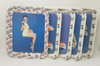 1994 Pepsi Cola 5 Gorgeous Girls Metal Trays Limited Edition of 2000 (SET OF 5)