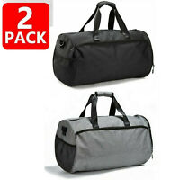 Gym Bag for Men Women Duffel Bag with Shoes Compartment Wet Pocket Large T Black