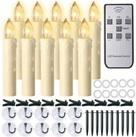 Flameless Window Candles Ivory Battery Operated LED Taper Candles- Remote #645