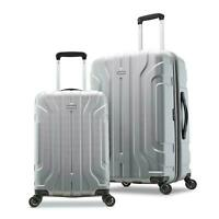 BRAND NEW Samsonite Belmont DLX 2-Piece Hardside Luggage Set - Silver 20