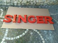 LARGE SINGER SEWING MACHINE 60S LIGHT UP SIGN METAL NEON STORE DISPLAY RARE 2 MT