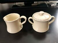 Mint Vietri Cucina Fresca Sugar Bowl & Creamer Set - Made in Italy - Cream Color