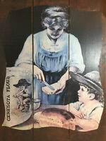 Antique Ceresota Flour Advertising Sign Wood Crate Side 25quot; x 16quot; Mom amp; Son