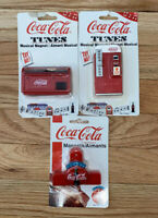 Vintage Coca Cola Refrigerator Magnets [Lot of 3] (Does Not Play Music) SEALED