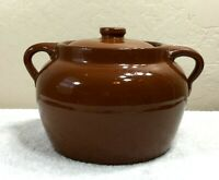 Vintage Alberta Potteries Redcliff Crockery Bean Pot with Lid
