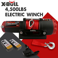 X-BULL Electric Winch 4500LBS 12V Synthetic Rope Tow Truck ATV UTV 4wd Boat