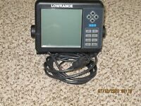 lowrance x65 fish finder with trolling motor clamp mount