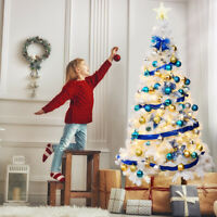 6Ft Artificial PVC Christmas Tree W/Stand Holiday Season Home Outdoor White
