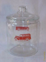 Vintage 1940s Gordon's 1 gal. Peanut Jar & Orig. lid, Tom's Lance Store Display