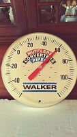 Vintage 1960's Walker Mufflers Thermometer  Sign Great condition works 12