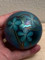 orient and flume art glass paperweight Early