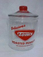 Tom's Peanut Red Jar w/ Lid,---Revered Tom's Red Logo-- Lance Gordon's Store