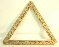 Vintage Folding Yardstick 36 Inches quot;Everybody Needs Tupperwarequot; Made in the USA