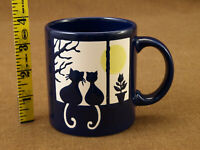 Waechtersbach MUG Cats Looking Out Of A Window Full Moon Blue New Old Stock