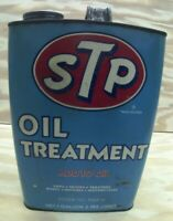 RARE STP OIL TREATMENT METAL GALLON CAN RICHARD PETTY NASCAR COLOR SCHEME 1977