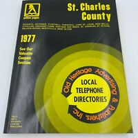 Vintage 1977 St Charles County MO Phone Book Yellow Pages Directory BK9