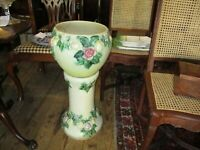 Antique Roseville Pottery Rozane Two Piece Jardinere and Pedestal