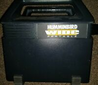 HUMMINGBIRD WIDE Eye Portable Fish Finder w Transducer tested works