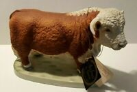 Andrea by Sadek Hereford Bull Figurine 7871 Figurine Collectible w tags Japan