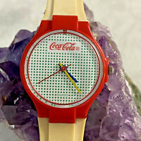 Vintage Coca Cola Watch Swiss Swatch Ladies Small Dot Face 624