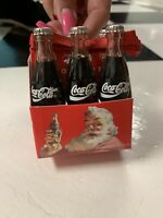 "Coca Cola 6 pack of Real Miniature Glass Bottles Comes ""Factory Sealed"" 1993"